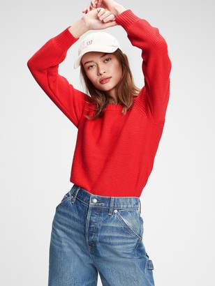 Gap True Soft Textured Crewneck Sweater