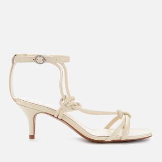 Whistles Women's Limited Kitten Heeled Sandals - Off White