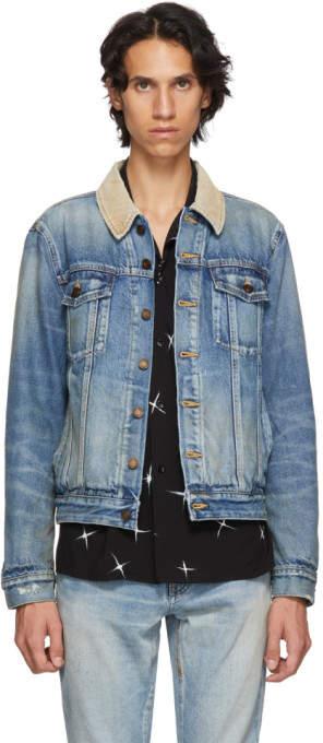 49f4be6ad2 Corduroy Collar Denim Men's Jacket - ShopStyle