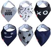 """Oak & Navy Absorbent Baby Bandana Drool Bibs 