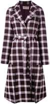 Christopher Kane plaid pattern coat
