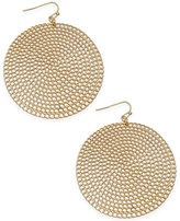 Thalia Sodi Gold-Tone Textured Disk Drop Earrings, Only at Macy's