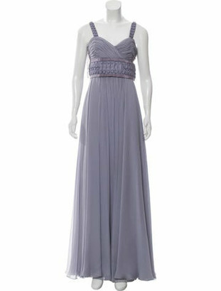 J. Mendel Silk Evening Gown Purple