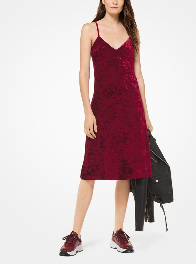MICHAEL Michael Kors Crushed Velvet Slip Dress