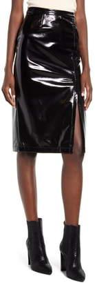 Blank NYC BLANKNYC Getaway Car Faux Leather Pencil Skirt