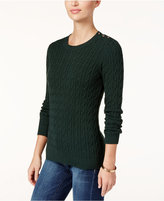 Charter Club Cable-Knit Sweater, Only at Macy's