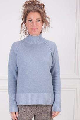 Kinross Plaited Mock Turtle Neck Sweater - Large
