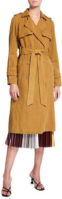 le superbe Delon Pleat-Back Trench Coat