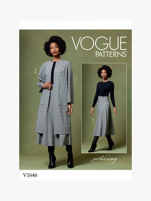 Vogue Women's Coat and Skirt Sewing Pattern, 1646