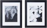 Mikasa Set of 2 8 x 10 Black Wood Frames