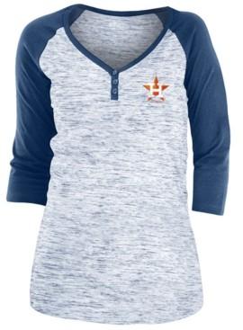 5th & Ocean Houston Astros Women's Space Dye Raglan Shirt