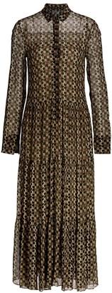 Akris Punto Circlefeild Printed Midi Dress