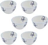 ABBIAMO TUTTO Abbiamo Tutto Blue Crab Set of 6 Ceramic Bowls