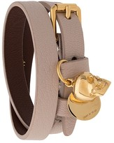 Alexander McQueen double-wrap leather bracelet