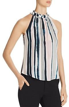 Go by Go Silk Sleeveless Tie-Dye Stripe Top