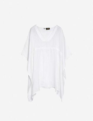 Loewe x Paulas ruffled oversized linen and cotton-blend top