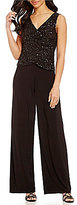 Adrianna Papell Beaded Two-Piece Jumpsuit