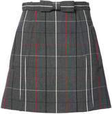 Miu Miu check bow mini skirt