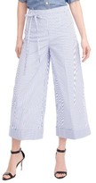 J.Crew Women's Stripe Wide Leg Crop Pants