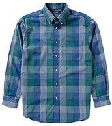 Roundtree & Yorke Long-Sleeve Large Plaid Sportshirt