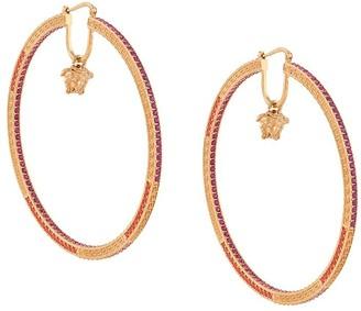 Versace Crystal-Embellished Hoop Earrings