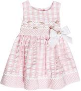 Bonnie Baby Dress, Baby Girls Pink and White Seersucker Dress