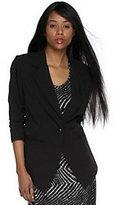 Luxe Rachel Zoe Tuxedo Jacket with Ruched Sleeve Detail