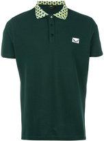 Fendi contrast geometric collar polo shirt - men - Cotton - 46