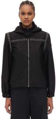 Moncler Genius Noir Bronze Embellished Nylon Jacket