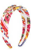 Dolce & Gabbana crystal embellished headband - kids - Silk/Cotton/Viscose/plastic - One Size