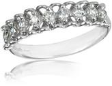 Forzieri 0.37 ctw Nine-Stone Diamond 18K White Gold Ring