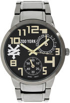 Zoo York Mens Black And Goldtone Bracelet Watch