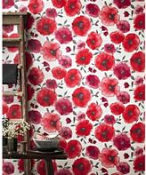 Graham & Brown 56 sq. ft. Poppies Red Wallpaper