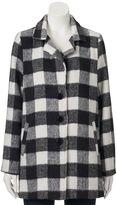 Juniors' Coffee Shop Faux-Wool Boyfriend Jacket