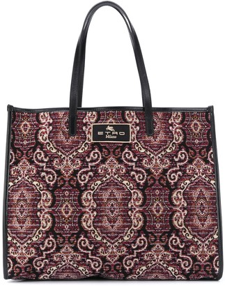 Etro Jacquard-Print Knitted Tote