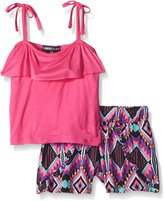Limited Too Girls' Ruffle Cami Top and Rayon Print Shorts