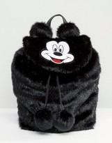Lazy Oaf Disney x Mickey Mouse Faux Fur Backpack