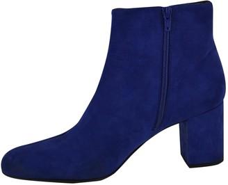 Saint Laurent \N Blue Suede Ankle boots