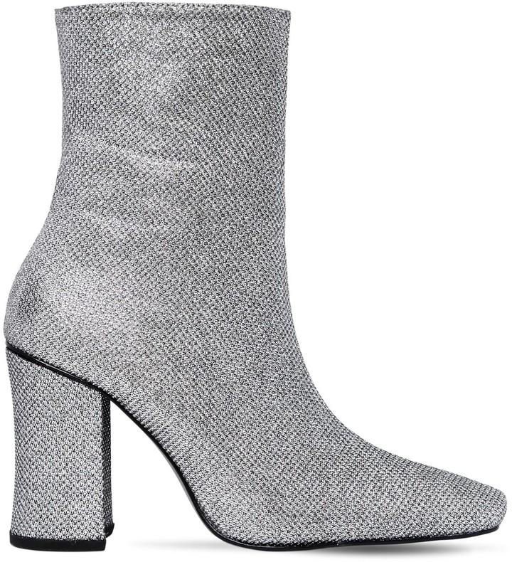 Dorateymur 90mm Glitter Fabric Ankle Boots