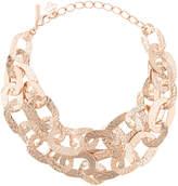 Oscar de la Renta hammered chain link necklace