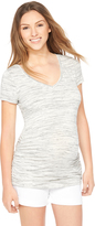Motherhood Spacedye Side Ruched Maternity Tee
