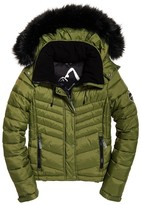 Superdry Fuji Quilted Down 3 in 1 Slim Padded Jacket with Faux Fur Hood
