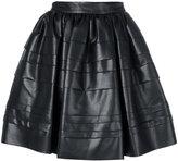 Ermanno Scervino embossed stripes full skirt - women - Polyamide - 38