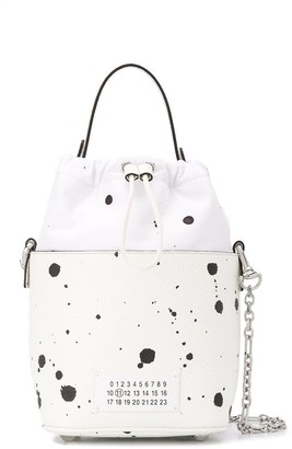 Maison Margiela paint splatter 5AC bucket bag