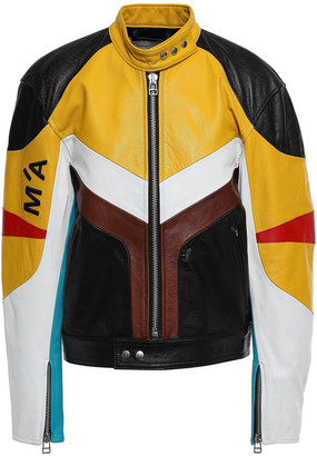 Marques Almeida Color-block Leather Bomber Jacket