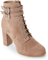 Madden-Girl Taupe Klaim Lace-Up Ankle Booties