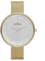 Skagen Ladies Gold-Tone Mesh Watch