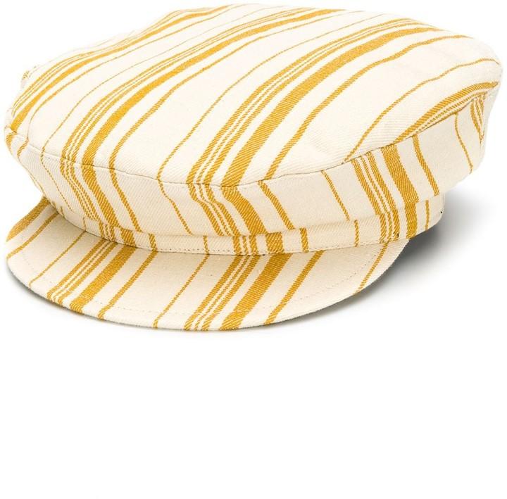 Ann Demeulemeester striped fisherman hat