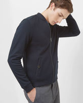 Br.Uno Quilted jersey bomber jacket