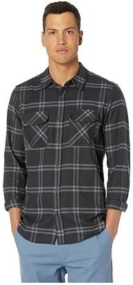 Hurley Dri-Fit Salinger Flannel (Black) Men's Clothing